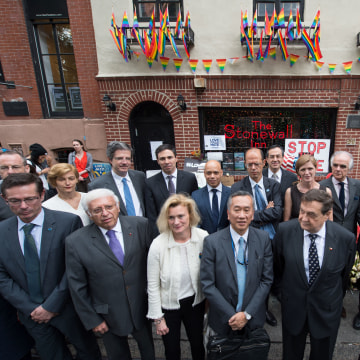 Images 17 UN Envoys Vow to Fight for LGBT Rights Around the World - NBC News 3