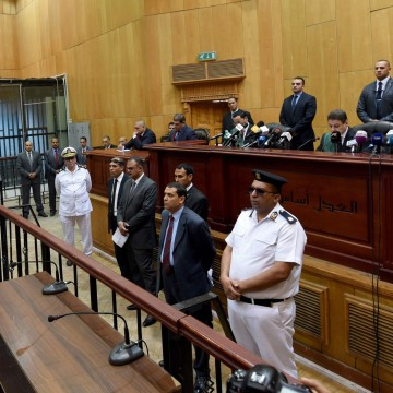 Image: EGYPT-POLITICS-JUSTICE-TRIAL-MORSI