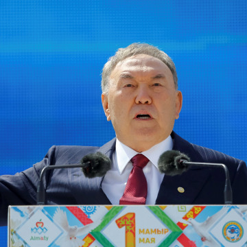 Image: Kazakhstan President Nursultan Nazarbayev on May 1