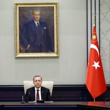 Cabinet meeting at presidential complex in Ankara