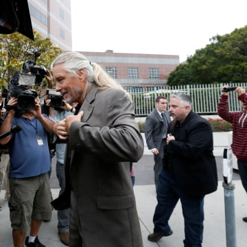 "Image: Andes, a founding member of the band Spirit, arrives to federal court for a hearing in a lawsuit involving Led Zeppelin's rock classic song ""Stairway to Heaven"" in Los Angeles"