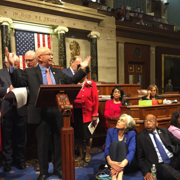 Image: Rep. Peter DeFazio, Rep. Katherine Clark and Rep. John Lewis