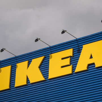 Image: The logo of IKEA is pictured outside Europe's biggest Ikea store in Kungens Kurva