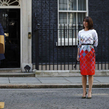 Image: Britain's Prime Minister David Cameron and wife Samantha