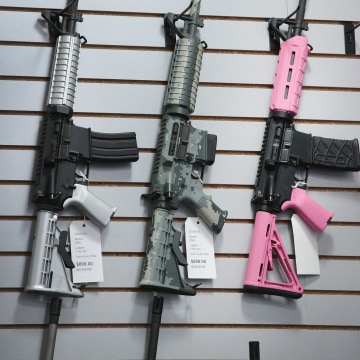 Image: AR-15 rifles build by DSA Inc.