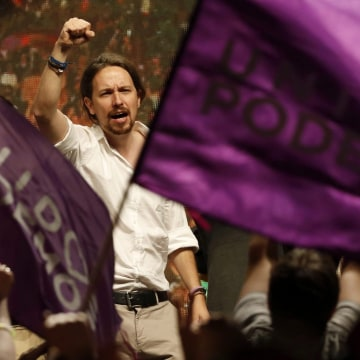 Image: Podemos Party leader Pablo Iglesias