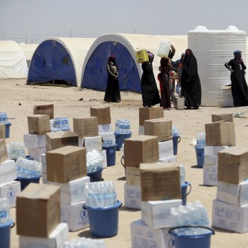 Image: Internally displaced civilians who fled their homes in Fallujah