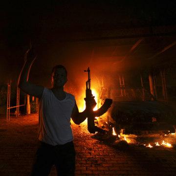 Image: U.S Consulate in Benghazi, Libya, on Sept. 11, 2012