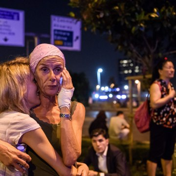 Image: Passengers outside Ataturk Airport in Istanbul on June 28, 2016