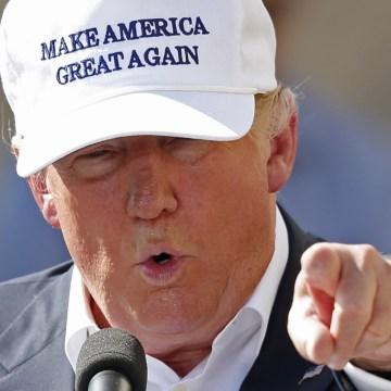 Donald Trump in Manchester, New Hampshire.