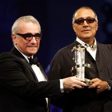 Image: Kiarostami receives an award from Scorsese during closing ceremony of the 5th Marrakesh International Film Festival
