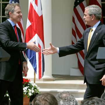 Image: Tony Blair and George W. Bush in 2007