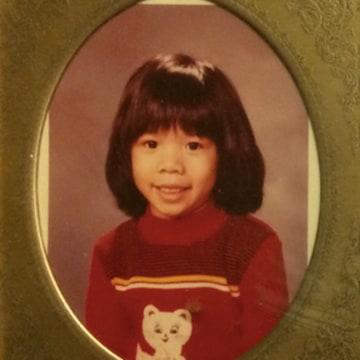 Rebecca Louie as a child
