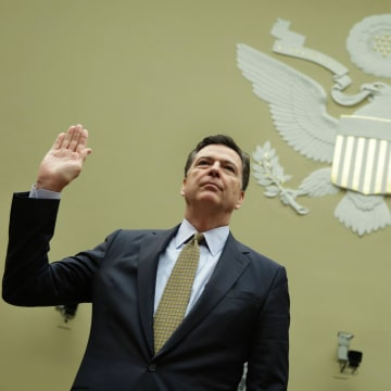 Image: James Comey testifies on Capitol Hill