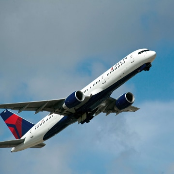 A Delta Airlines jet takes off from Fort Lauderdale-Hollywood International Airport.