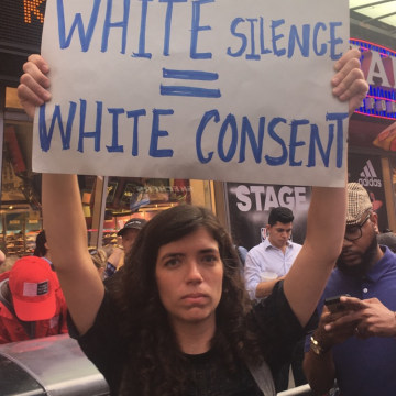Woman at March in NYC