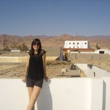 Cecile Vannier, 17, poses for a photo while on a school trip in Egypt in 2009.