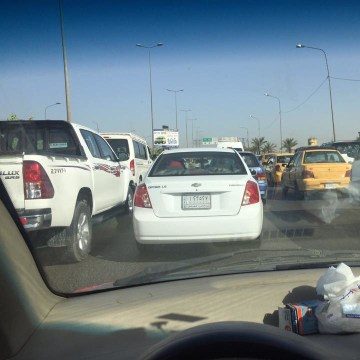 Image: Traffic was at a standstill in Baghdad
