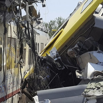 Image: Train crash in Italy
