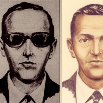 Image: Artist sketches released by the FBI of a man calling himself D.B. Cooper