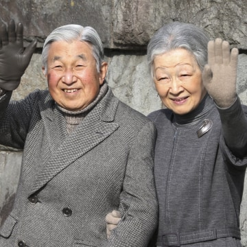 Image: Japan's Emperor Akihito and Empress Michiko
