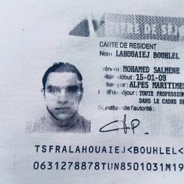Image: Suspected Nice truck driver Lahouaiej Bouhlel's French resident card