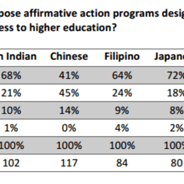 an opinion that affirmative action works A vocal minority of asian-americans are collaborating with white conservatives to tear down hard-won affirmative action, mistaking it for a hindrance to higher education.