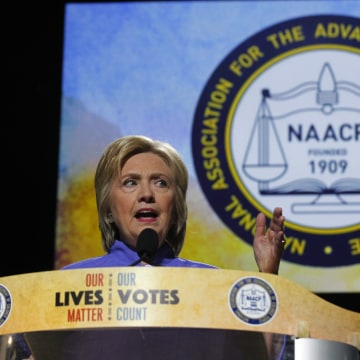 Image: Hillary Clinton Addressess the NAACP Convention In Cincinnati