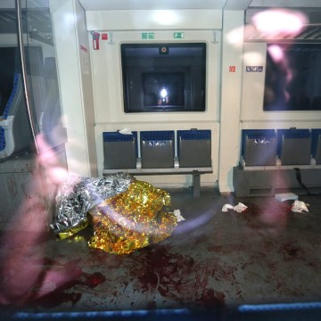 Image: Blood in the interior of a German regional train