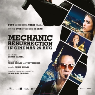 Mechanic: Resurrection Jessica Alba Movie Poster