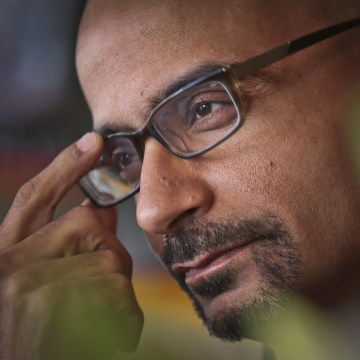 Pulitzer Prize winning author Junot Diaz during an interview  in New York.