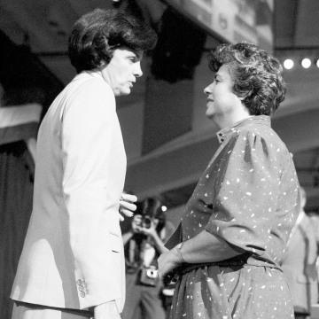 IMAGE: Diane Feinstein and Roz Wyman