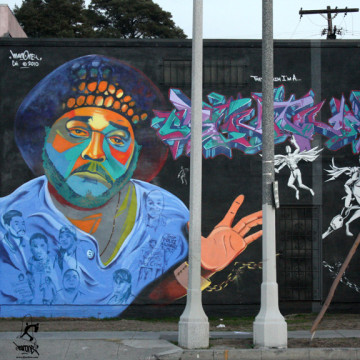 """""""They Claim I'm a Criminal"""" by Man One in Los Angeles, California, 2010"""