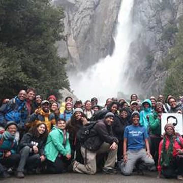 Outdoor Afro leaders in Yosemite National Park, April 2016.