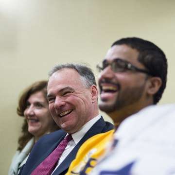 Virginia Democratic candidate for U.S. Senate and former Gov. Tim Kaine