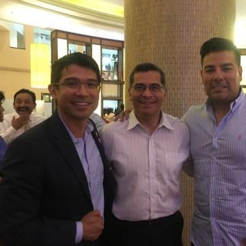 (Left to right) Ricard Lara, Xavier Becerra and Carlos Menchaca