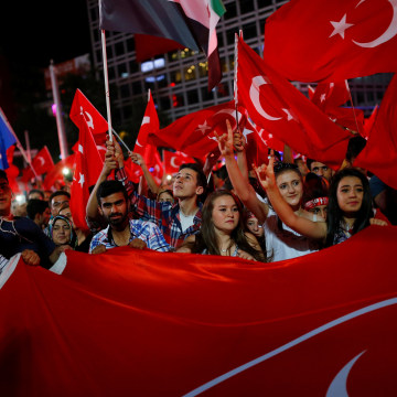Image: A solidarity rally in Ankara, Turkey, on July 27, 2016
