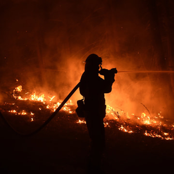 Images Progress Made Against Wildfire North of L.A., While Big Sur Blaze Grows  - NBC News 3