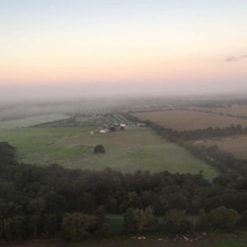 Image: Matt Rowan sent this photo from inside the balloon to a Facebook group