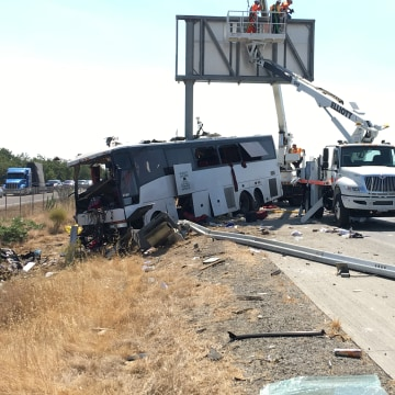IMAGE: California bus crash