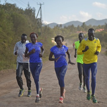 Image: Team Refugees Olympians train on July 25