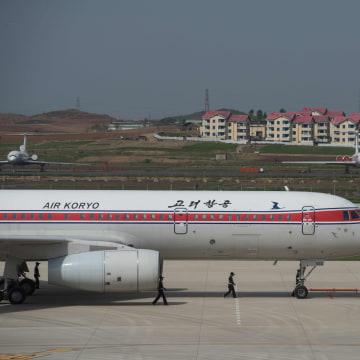 Image: An Air Koryo jet in Pyongyang, North Korea, on May 12, 2016