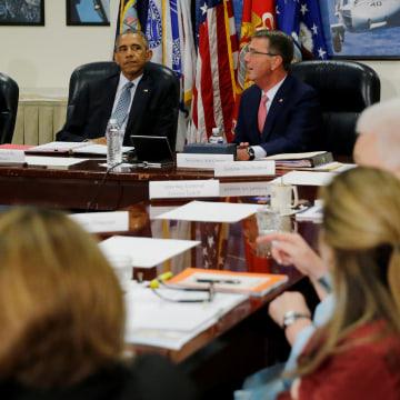 IMAGE: Obama Pentagon briefing