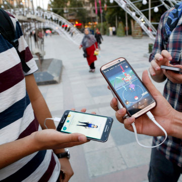 Image: Pokemon Go players in Iran