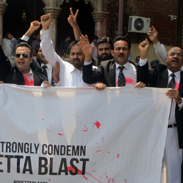 Image: Lawyers protest