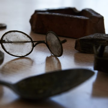 Image: Items belonging to former prisoners at the Stutthof Nazi concentration camp in Poland were found during an archaeological excavation earlier this year.