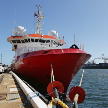 Image: Fugro Discovery has covered 50,000 miles and found no trace of MH370.