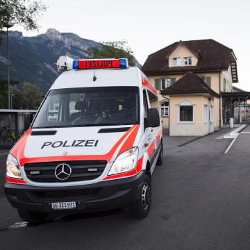Image: Attack on train in Switzerland