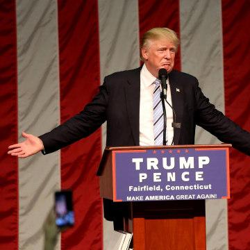 Image: Republican presidential nominee Donald Trump