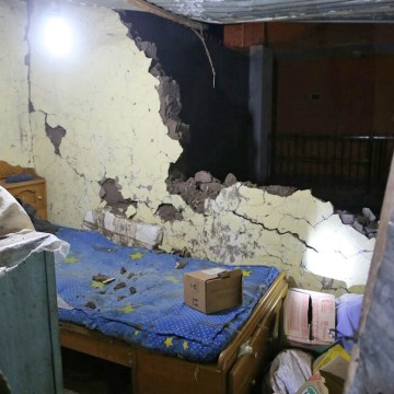 Image: The inside of a damaged house after an earthquake in Arequipa, Peru